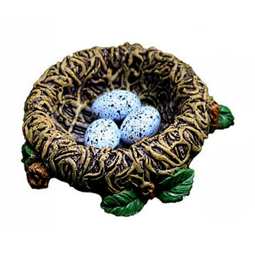 Handpainted Resin Birds Nest