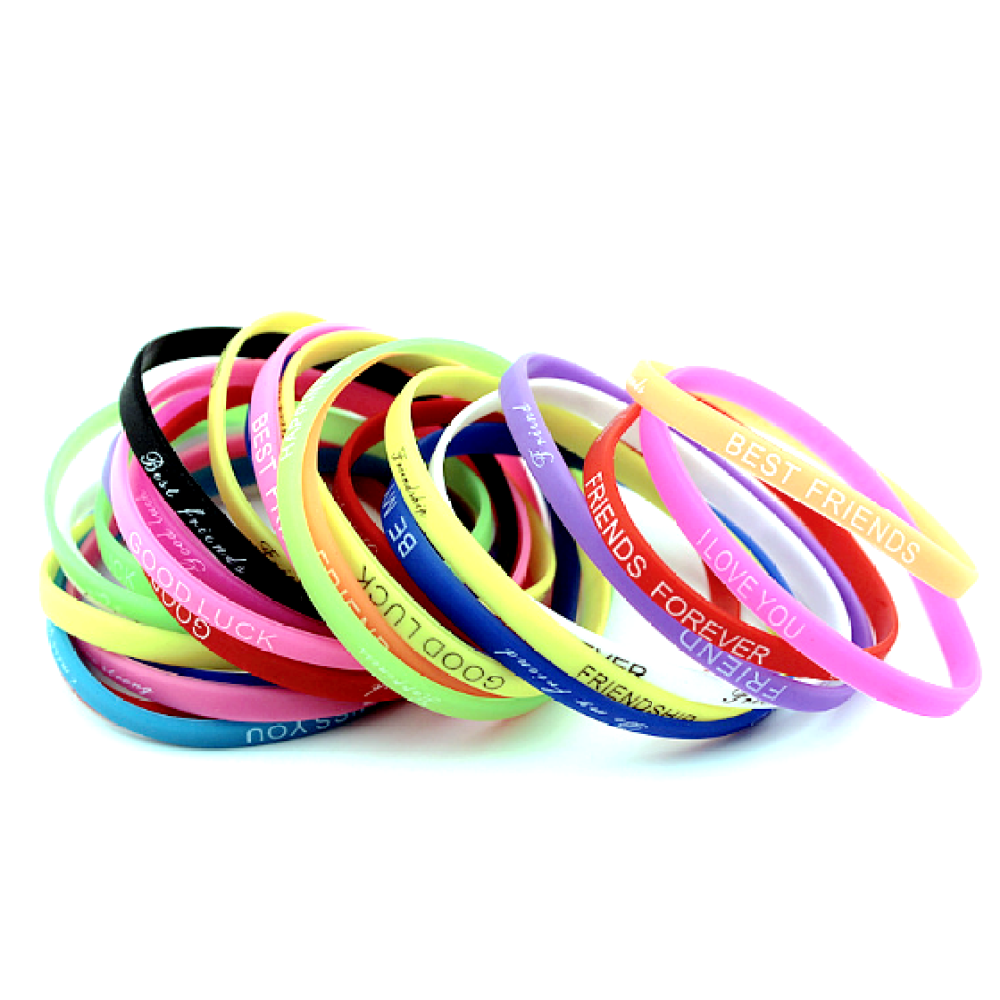 Childrend Size 5mm Silicone Wristband