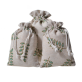 Canvas Floral Design Drawstring Bags