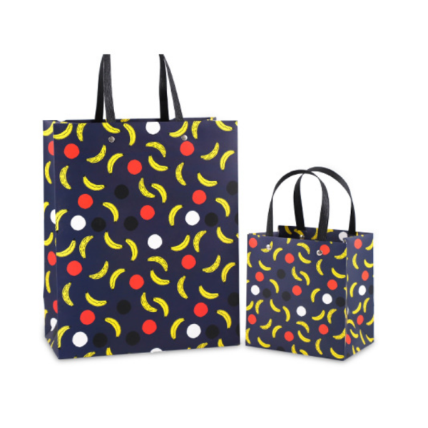 White Cardboard Paper Gift Bag Fruit Design