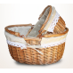 Round Basket With Cotton Lace