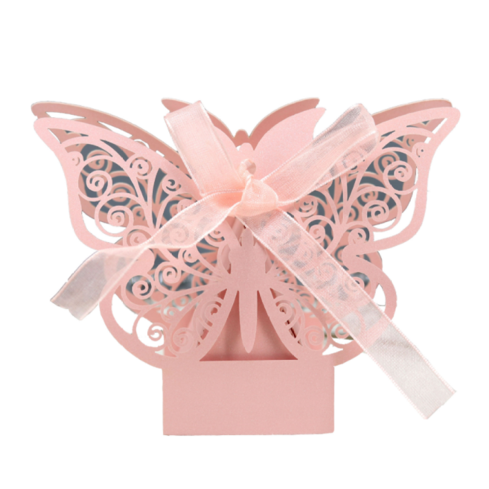 Candy & Chocolate Gift Box With Colorful Butterfly Designs