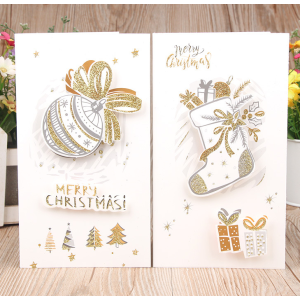 Christmas Gift Cards 12cm*21cm With Envelopes