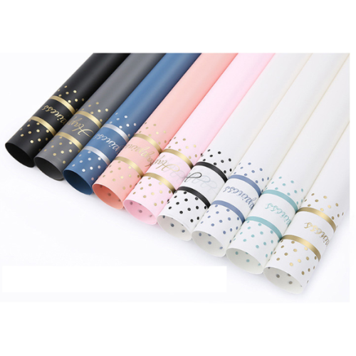 Waterproof Happiness Colorful Flower Wrapping Paper Pack 20