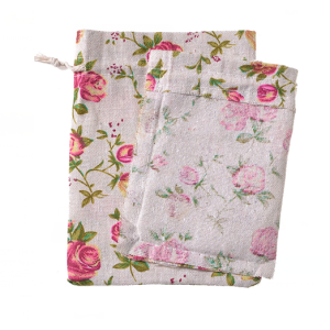 Canvas Floral Design Drawstring Bags