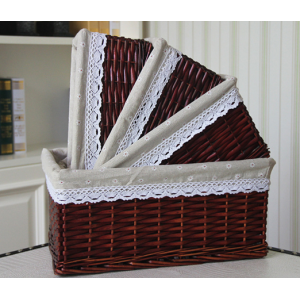 Square Gift Baskets Set Of 3