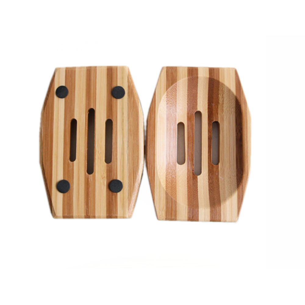 Square Bamboo Soap Holder Environmental Friendly Product