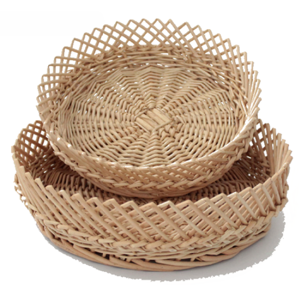 Round Shape Willow Baskets In Three Sizes