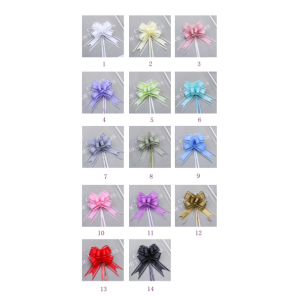 Pull Ribbon Bows In 14 Colors Width 13 MM