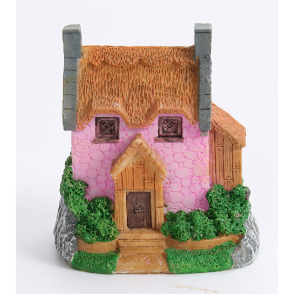 Resin House Small Sizes For Pot Decoration