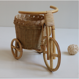 Cart Basket Made Of Willow Suitable For Small Fruit & Plants