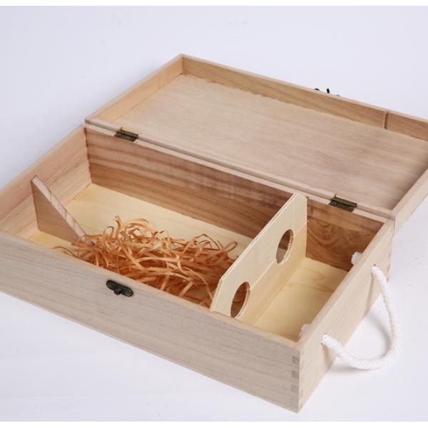Two-Bottle Pinewood Wine Box