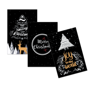 Christmas Gift Cards 10cm*15cm Color Black