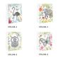 White Cardboard Paper Gift Bag Animal Designs