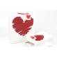 White Cardboard Gift Bag Loving Heart Pack 100