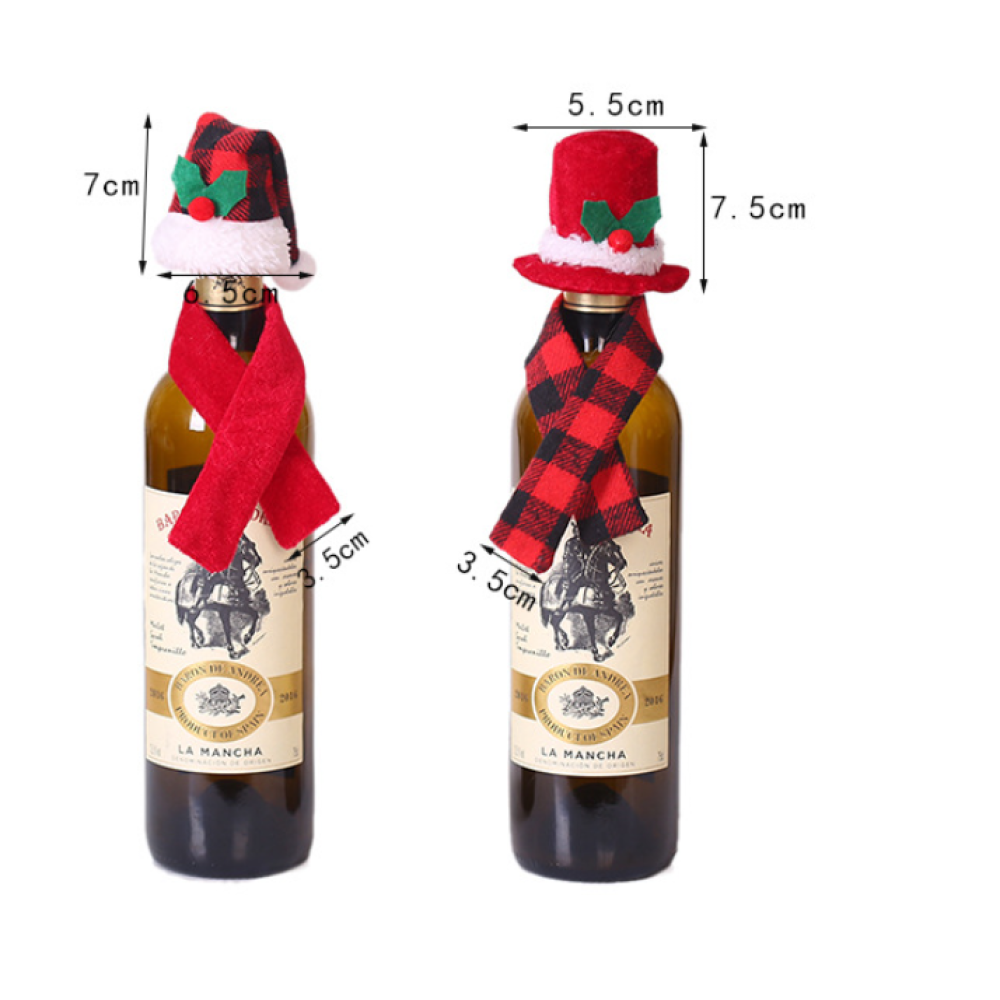 Christmas Wine Bottle Outfit Decor