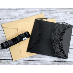 Spider Net Laser Cut Invitation Gift Cards