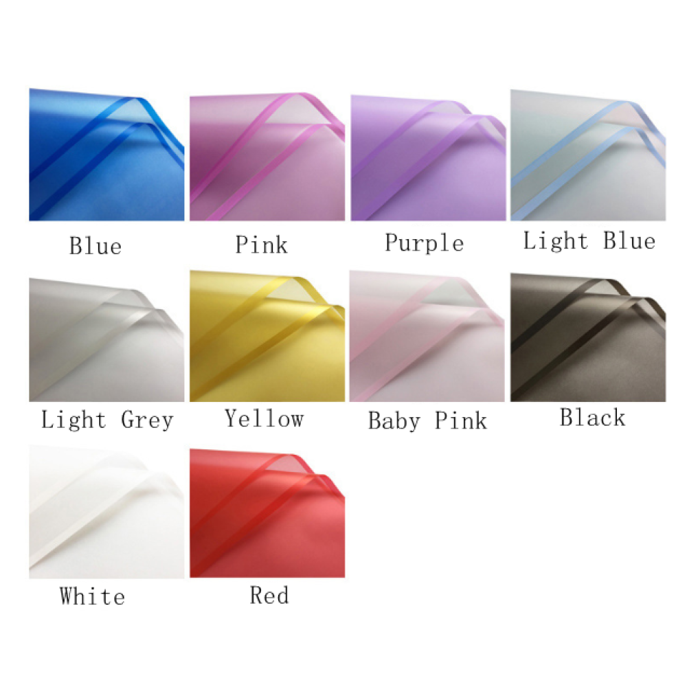 Silky Waterproof Flower Wrapping Sheets Pack 20