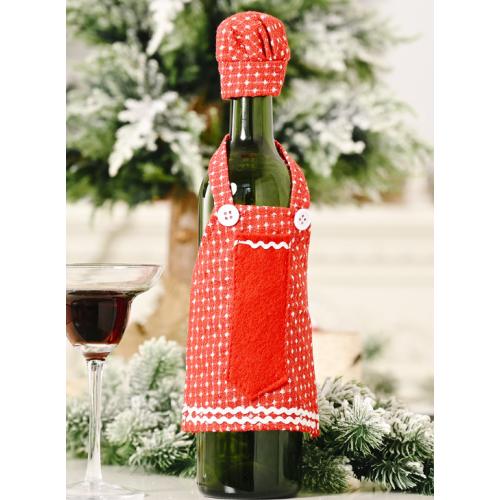 Creative Apron Wine Bottle Decoration For Christmas Gift Arrangement
