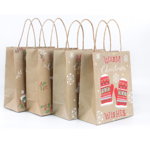 Kraft Paper Christmas Goodie Bags