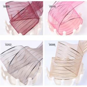 Mesh Woven Ribbon Stripe Pattern Multiple Colors