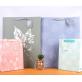 White Cardboard Gift Bag Leaves Design