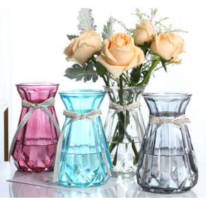 Colored Glass Vase For Flowers For Sale