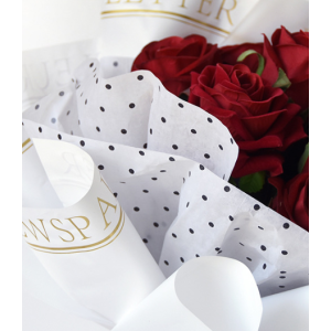 Tissue Paper Flower Wrapping Dotted Design Pack 20