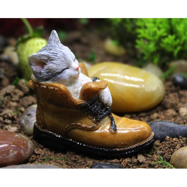 Resin Kitten Sleeping In The Shoe