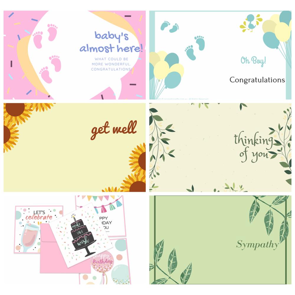 Baby Girl Cards 10cm*15cm