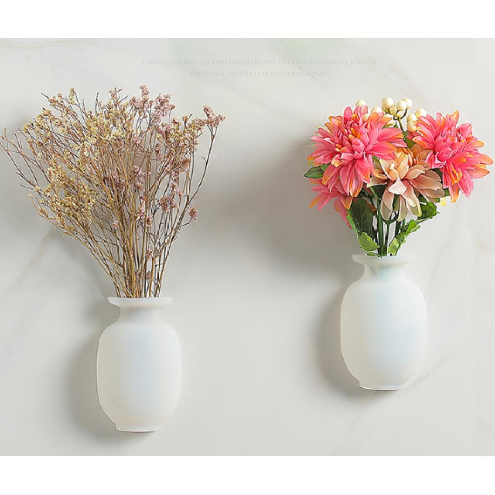 Nano High Tech Reusable Silicone Wall Vase