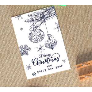 Christmas Gift Cards 10cm*15cm Blue & White