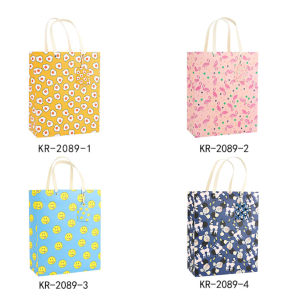 White Cardboard Gift Bag Bright Colors Pack 100