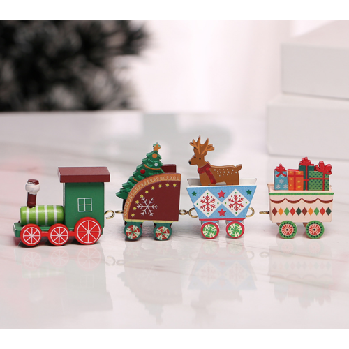 Wooden Little Train Set Decoration For Christmas Gift
