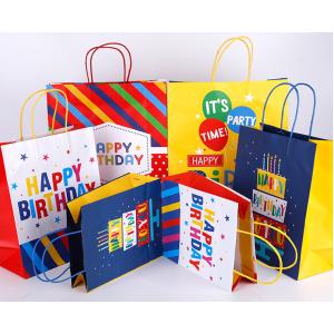 Kraft Paper Gift Bag For Birthday