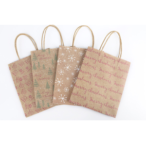 Kraft Paper Gift Bag Christmas Tree Pack 100