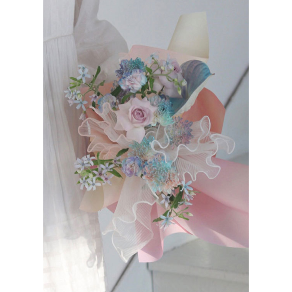 Curling Lace Mesh Flower Wrapping Decoration
