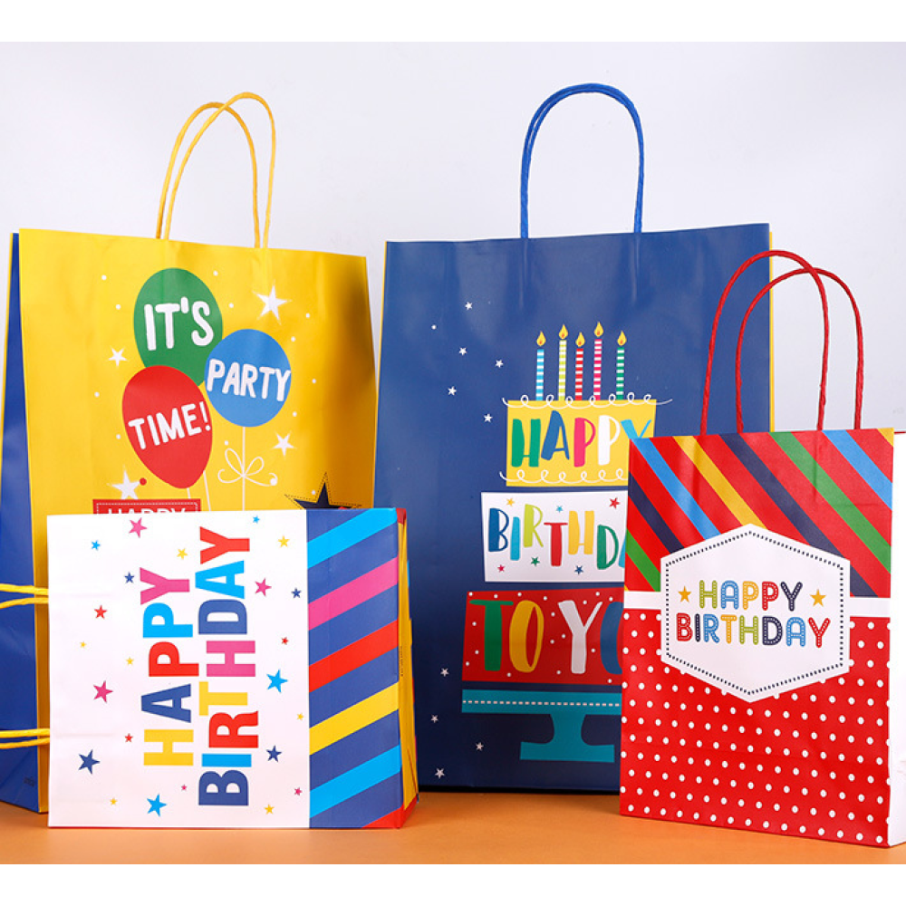 Kraft Paper Gift Bag For Birthday
