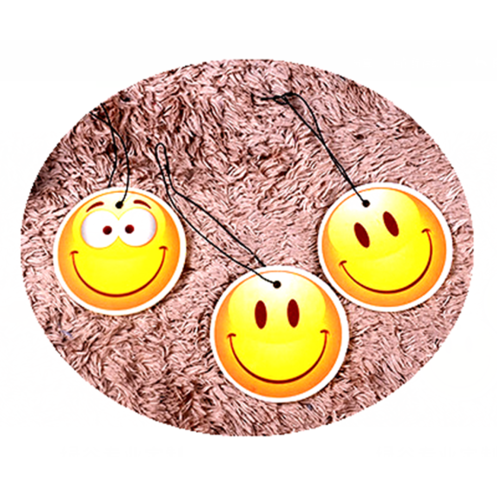 Happy Face Emoji Car Freshener Customized Your Logo