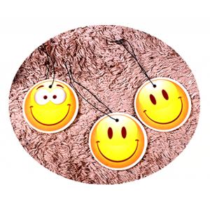 Happy Face Emoji Car Freshener Customized Your Logo