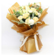 Waterproof Paper Flower Wrapping With Printed Letters Pack 20