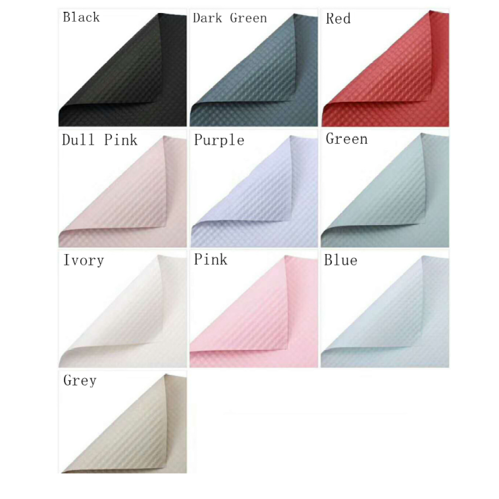 Embossed Pure Color Flower Wrapping Sheets Pack 10