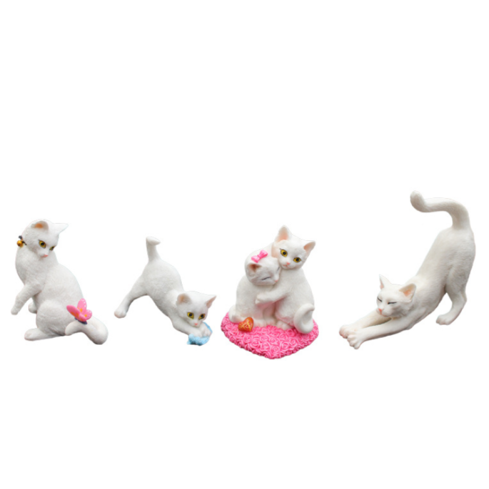 Cat Resin Decoration