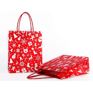 Gift Bag Christmas Tree Red Pack 100