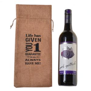 Drawstring Wine Bag Personalized Logo