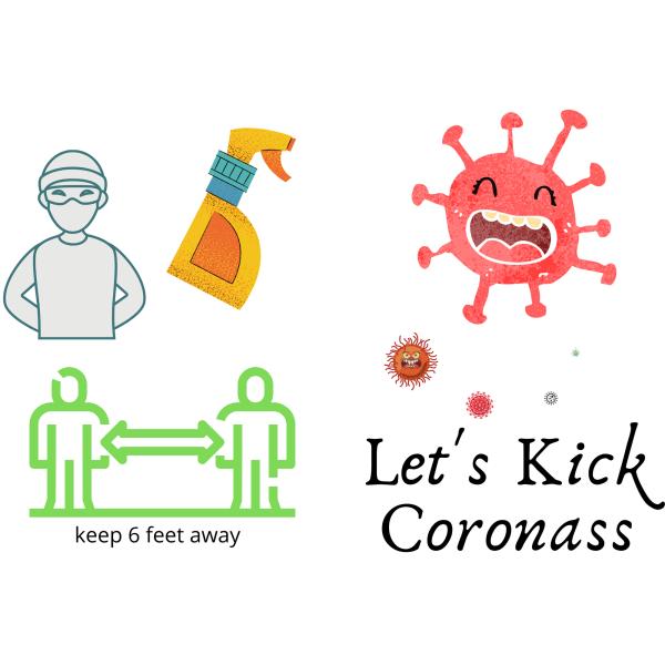 Corona Virus Cards 10cm*15cm