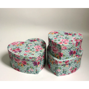 Flower Hat Box Set Three Floral Designs