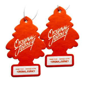Tree Car Freshener Promoting Your Products