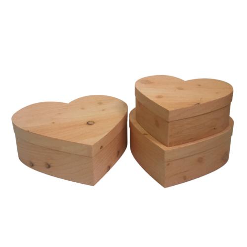 Cardboard Gift Box Set Three Heart Shape
