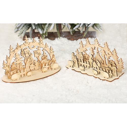 Christmas Decoration Wood Log Craft Ornaments
